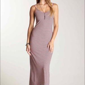 American Apparel Striped Maxi Dress